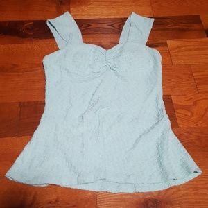 Mint green peplum